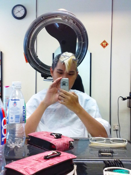 Grey's Bleaching Adventure: Dyeing the hair color