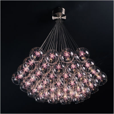 Starburst Thirty Seven Light Pendant in Satin Nickel