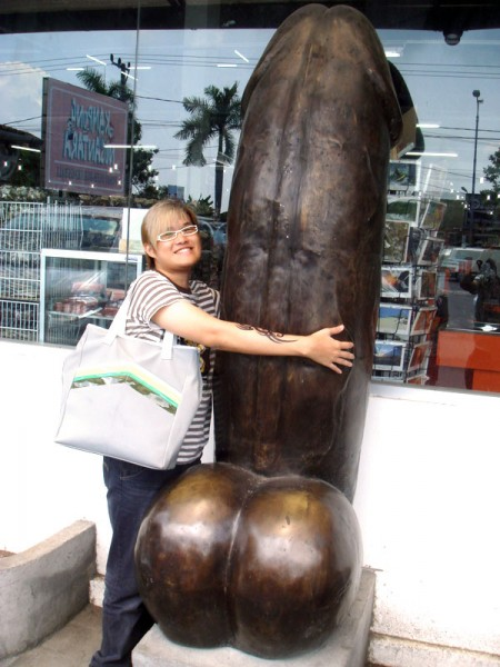 Grey and The Giant Dick Sculpture in Bali!