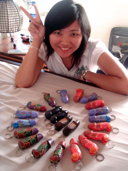 Yee and the Bali Dick Keychains