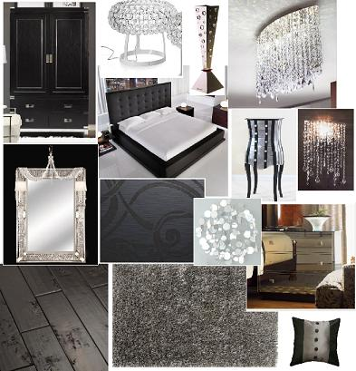 Home Interiors - Black & Bling Bedroom