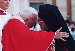 Paus met orthodoxe leider