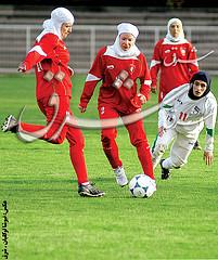 Islamitische vrouwelijke voetballers