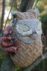 Felted Sweater Owl