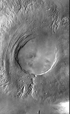 arsia mons volcano on mars