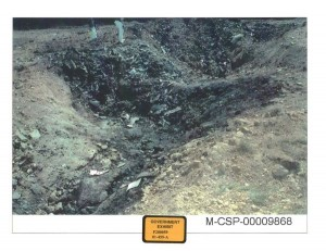 Flight 93 crash site crater