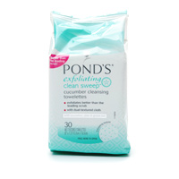 Ponds cleansing and exfoliating towelettes