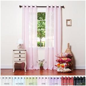 Sheer Pink Curtains