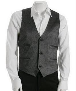 Adam dark charcoal twill 4 pocket vest