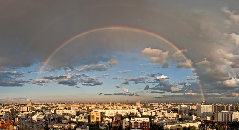 Double rainbow / Moscow's summer