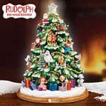 Rudolph® the Red-Nosed Reindeer® Illuminated Tabletop Christmas Tree - Exclusive, Limited-edition Illuminated Tabletop Christmas Tree Features Rudolph® the Red-Nosed Reindeer® Characters!