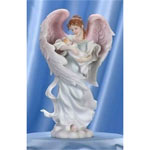 Seraphim Julia Mothers Joy Angel Figurine - Luminous Seraphim Angel Figurine from the Seraphim Classics Collection® Celebrates the Tenderness of a Mothers Arms