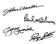 The Beatles's signatures