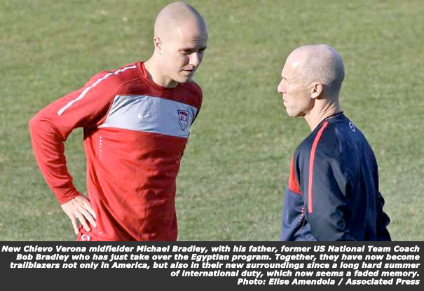 Bob and Michael Bradley in Happier TImes with The US National Team