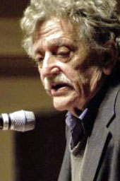 Kurt Vonnegut speaking at Case Western Reserve...