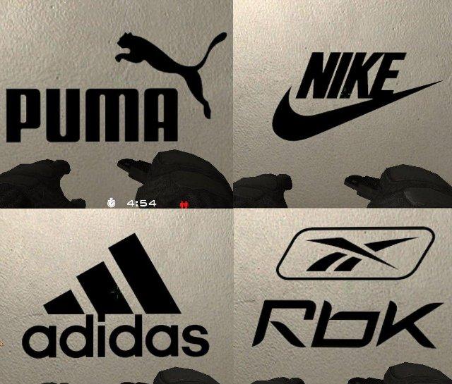 Cпреи с логотипами спортивных фирм