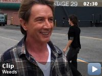 Weeds -- Kevin Nealon fools around with guest star Martin Short on set.