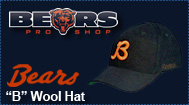 "Chicago Bears ""B"" wool hat"