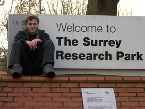 Welcome to the Surrey Research Park, sign.