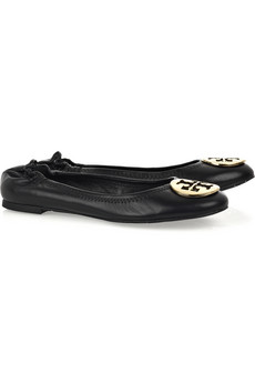 Tory Burch�Reva leather ballerina flats