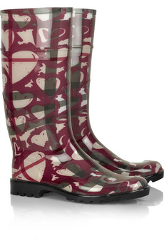 Burberry�Heart-print Wellington boots