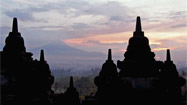 Watching the sun rise with 504 Buddhas in Indonesia