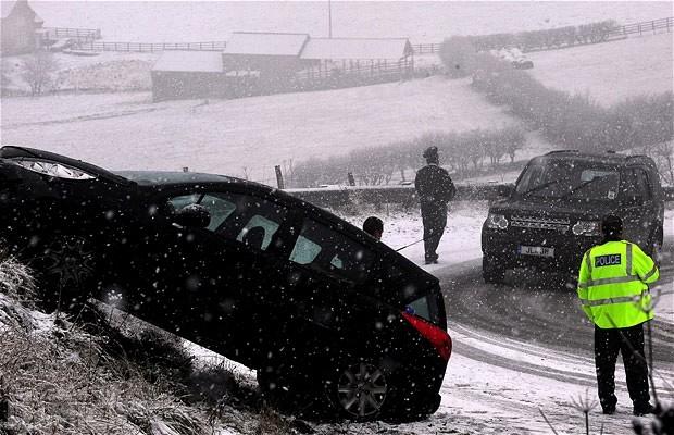 Снежная буря в Великобритании. Фото 5