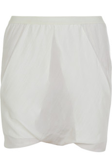 Rick Owens�Slouchy silk shorts