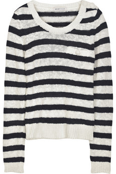 See by Chloé Striped chunky-knit sweater