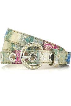 Miu Miu�Printed Lurex skinny belt