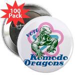"Vote Komodo Dragons 2.25"" Button (100 pack)"