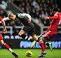 Going missing: Newcastle fear a lay-off for Obertan