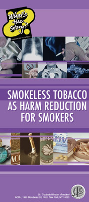 WTS Smokeless Tobacco As Harm Reduction for Smokers (cover)