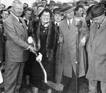 Governor James Duff at the Philadelphia Extension ground breaking