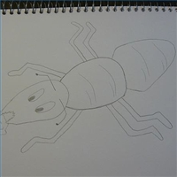 Easy Ant Drawing