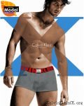 Calvin Klein X Cotton Trunk U8829 Red/Grey
