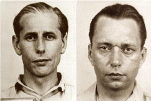 George John Dasch (left) and Ernst Peter Burger (right)