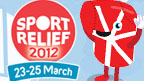 The Sport Relief Logo and Milo.