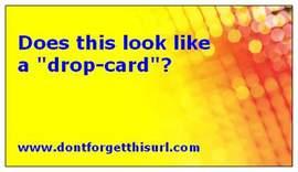 Drop-card-specimen