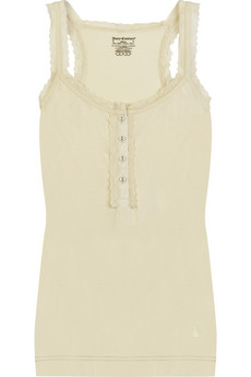 Juicy Couture�Lace-trim tank