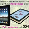 Win an iPad and Matching Eco Case (worth $549)