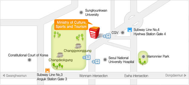 Ministry of Culture, Sports and Tourism Map