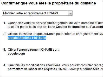 CNAME registration