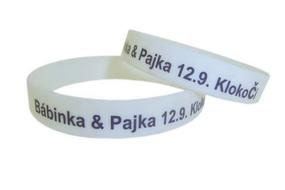 printed wedding bracelets