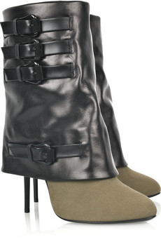 Giuseppe Zanotti�Leather and canvas boots