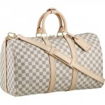 Louis Vuitton Damier Azur Canvas Keepall Bandouliere 45 N48223