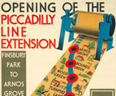 Poster for the Opening of the Piccadilly line extension