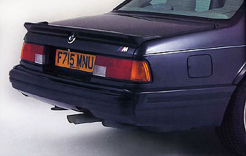 1987 6-Series BMW. Rear bumper