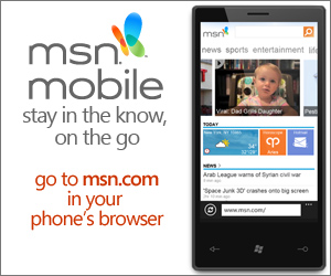 MSN Mobile: Go to msn.com in your phone's browser.