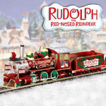 Rudolphs Christmas Town Express Electric Train Collection - Exclusive Rudolph the Red-Nosed Reindeer® Collectible Electric Train Set Collection a Unique Christmas Decoration